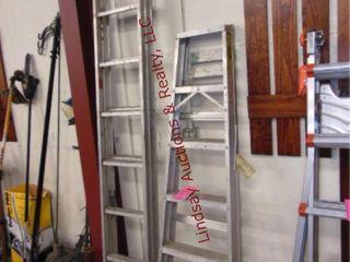 16  alum ext ladder   6ft alum step ladder