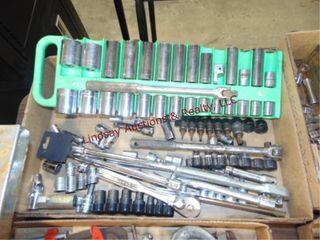 Flat of  mostly Craftsman  sockets  ratchets