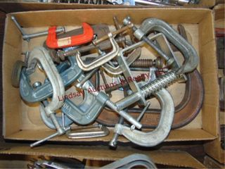 Flat of c clamps various sizes