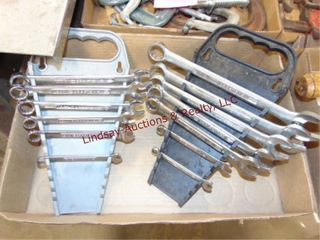 Flat of 7 Craftsman SAE   6 Metric combo wrenches