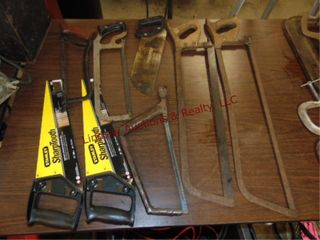 8 various handsaws  2 new