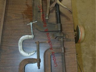 4 various size c clamps   other clamp