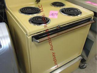 Vintage Whirlpool elec 4 burner stove oven