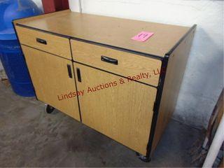 2 door 2 drawer cabinet on wheels  48x24x36