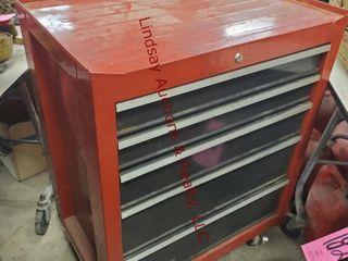 5 drawer craftsman tool box  27x 18x 34 5
