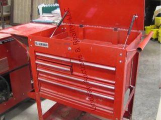 US General 5 drawer tool cart w  lid   sideshelf