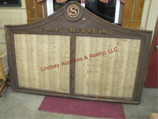 WWII name war case wood 94 5 x 99  2 door