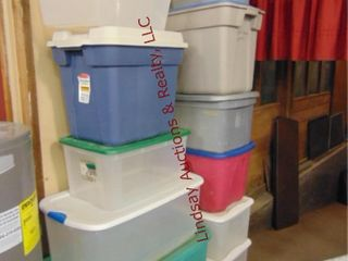 Approx 12 totes various sizes