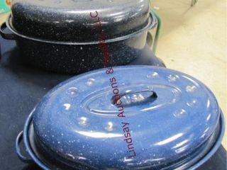2 granite roaster pans