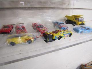 8pc race cars  dump truck