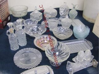 Approx 26 pcs of glass dishes SEE PICS