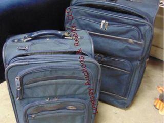 2pc luggage w  4 garment bags