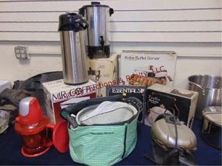 Group of small appliances  NEW Mr  Coffee  Ninja