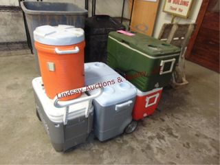 6 various coolers SEE PICS