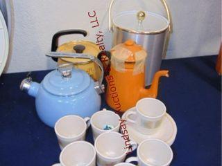 Tea Kettles  ice bucket  cups   saucers