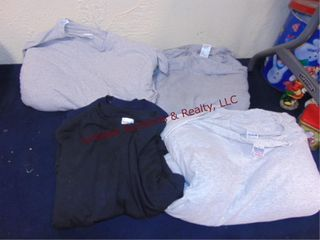Group of t shirts  gray  black  navy  19 size M