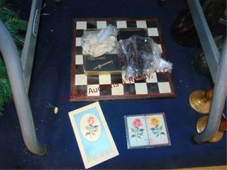Chess set   deck of cards