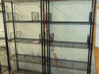 2 Metal racks 36  x 14  x 75
