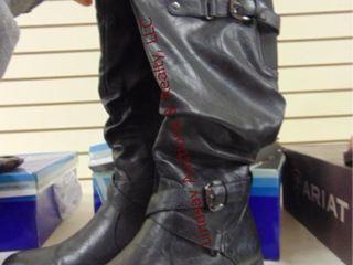 NIB White Mountain leather boots size 8 5M Black
