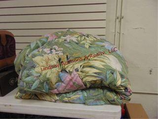 King size floral bed skirt