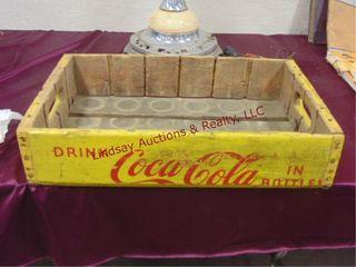 Wood Coca Cola tray