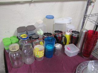 Group misc  coffee mugs  jars  food storage   othr