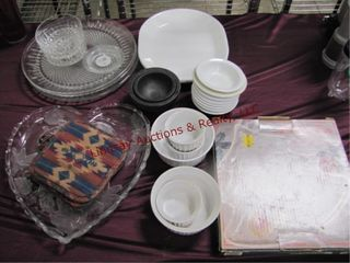 Group misc dishes  bowls  platters   others