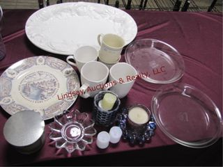 Group misc dishes  Pyrex pcs  coffee cups    other