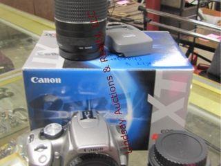 Cannon EOS Rebel XT digital camera w  case  2 lens