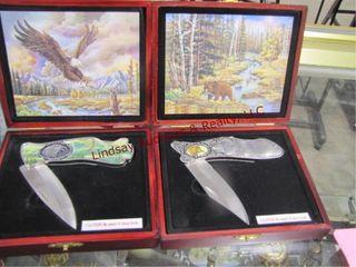 Pair of knives  eagle   bear