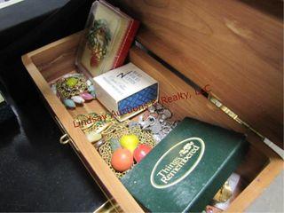 Group costume jewelry   wood jewelry box SEE PICS