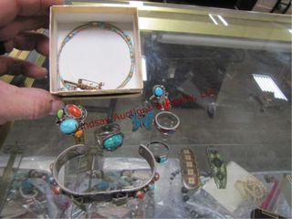 8pcs  turquoise jewelry