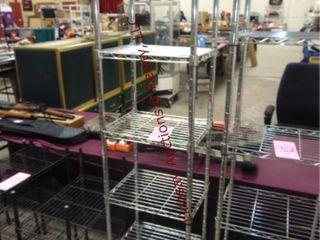1 Metal rack 18  x 14  x 73