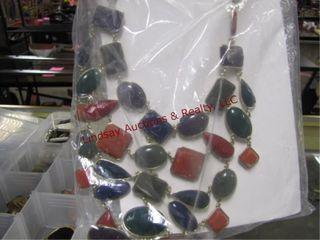 4 plastic trays w  costume jewelry