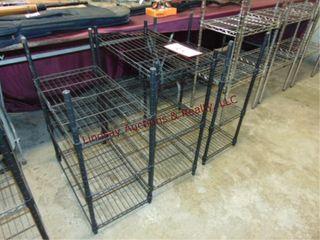 3 Metal racks 23  x 13  x 30