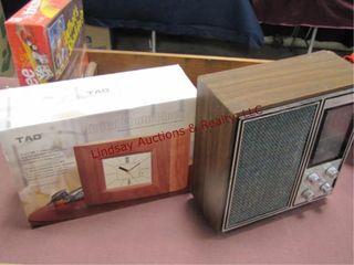 Radio  decor shelf  digital photo clock  yahtzee