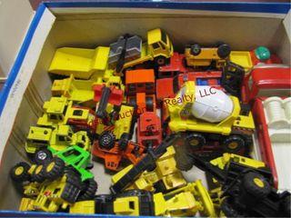 Box of matchbox trucks   tonka truck