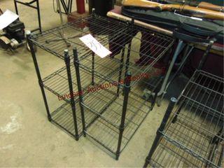 2 Metal racks 23  x 13  x 30
