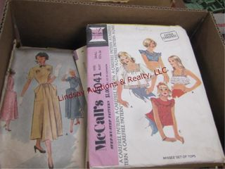 Box of fabric pieces SEE PICS