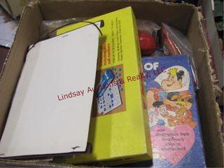 Box of vintage board games