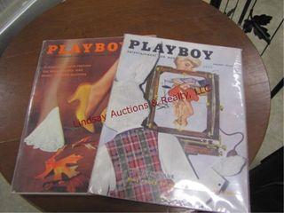 2 Playboy Magazines 56  59