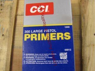 1 box 1000 large pistol primers