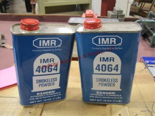 2  16oz cans of IMR 4064 powder
