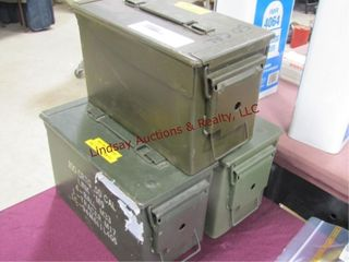 3  50cal metal ammo cans
