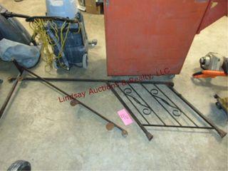 2 pcs metal railing  80 long   64long x 31 tall