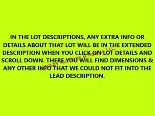 IN THE lOT DESCRIPTIONS  ANY EXTRA INFO OR