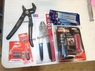 Group of tools  some new  Craftsman  Milwaukee