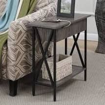 XX Side End Table w  Outlets  amp  USB Port