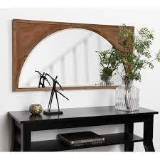 Kate   laurel Andover Wooden Wall Pane Arch Mirror