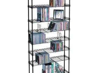 Atlantic 8 Tier Adjustable Multimedia Storage Rack